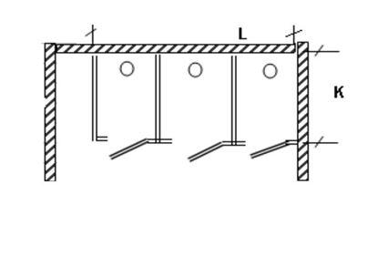 Изображение Перегородка для разделения санузлов 3х створчатая, угловая 2700х1200х2000 мм