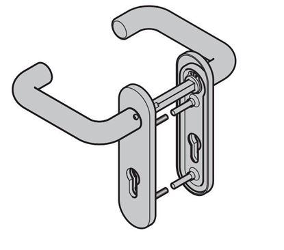 Изображение Комплект ручек черного цвета для дверей ZK, Арт.534820; 25164