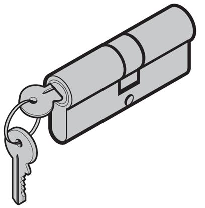 Изображение D-55 профильный цилиндр для двери 35.5+45.5мм Арт.539228