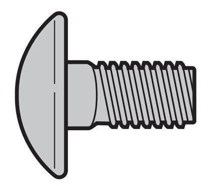 Изображение Винт с полукруглой головкой M8 × 16 Арт.3006980