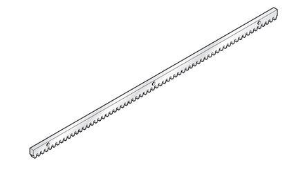 Изображение Рейка зубчатая металлическая 1000х8мм Арт.796