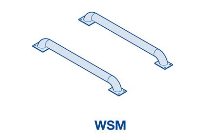 Изображение Колесные направляющие из оцинкованной стали WSM