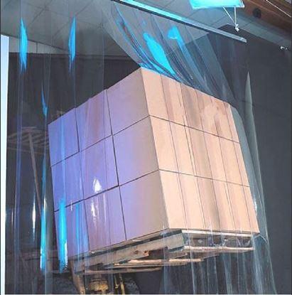Изображение Экран из ленты ПВХ в проем размером 1000х2000 мм, шириной 200 мм от -40* С до +30*С