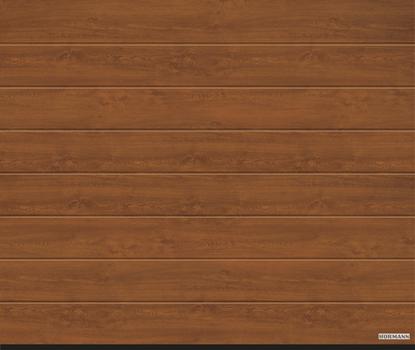 Vorota sekcionny`e LPU 42, 2500x2500, DecoColor, M-gofr, Golden oak (Zolotoj dub). Art. 4015166
