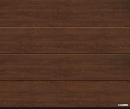 Vorota sekcionnye LPU 42, decocolor, L-gofr, cvet Dark oak (Темный дуб)