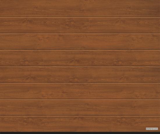 Vorota sekcionny`e LPU 42, 3000x2500, DecoColor, M-gofr, Golden oak (zolotoj dub). Art. 4017232