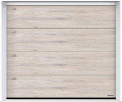 Изображение Ворота секционные LPU 42 2500x2125мм Duragrain L-гофр Whitewashed oak