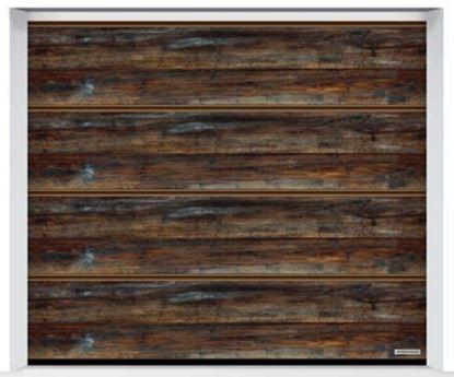 Изображение Ворота секционные LPU 42 2500x2500мм Duragrain L-гофр Burned oak