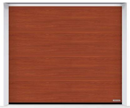 Изображение Ворота секционные LPU 42 2500x2500 Duragrain L-гофр cherry