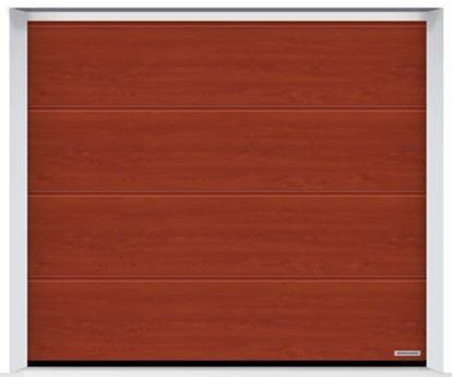 Изображение Ворота секционные LPU 42 2375x2125мм Duragrain L-гофр Rusty oak