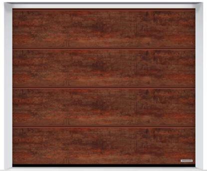 Изображение Ворота секционные LPU 42 2375x2125мм Duragrain L-гофр Rusty steel