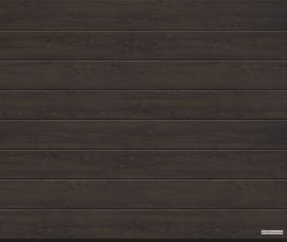 Изображение Ворота секционные LPU 42 2500x2250мм DecoColor M-гофр Night oak (Ночной дуб). Арт. 4017210