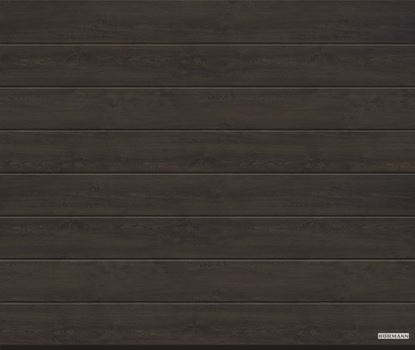 Vorota sekcionny`e LPU 42, 3000x2125, DecoColor, M-gofr, Night oak (Nochnoj dub). Art. 4017228