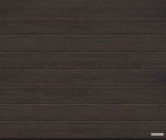 Vorota sekcionny`e LPU 42, 5000x2250, Decocolor, M-gofr, Night oak (Nochnoj dub). Art. 4017255