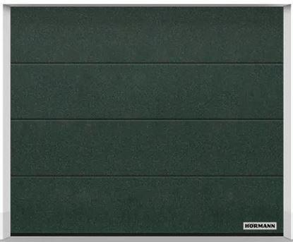 Изображение Ворота секционные LPU 42 2375x2000 мм duragrain L-гофр цвет Diamond green