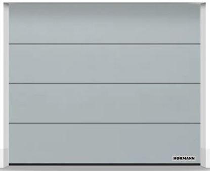 Изображение Ворота секционные LPU 42 2375x2000 мм duragrain L-гофр цвет Diamond grey