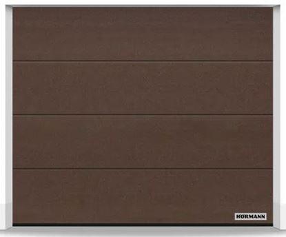 Изображение Ворота секционные LPU 42 2375x2000 мм duragrain L-гофр цвет Diamond Brown