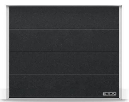 Изображение Ворота секционные LPU 42 2375x2125 мм duragrain L-гофр цвет Diamond black
