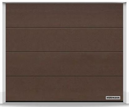 Изображение Ворота секционные LPU 42 2375x2125 мм duragrain L-гофр цвет Diamond Brown