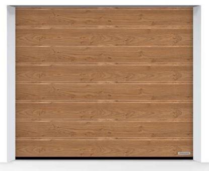Изображение Ворота секционные LPU 42, 2375х2000, Decograin, M-гофр, Winchester oak