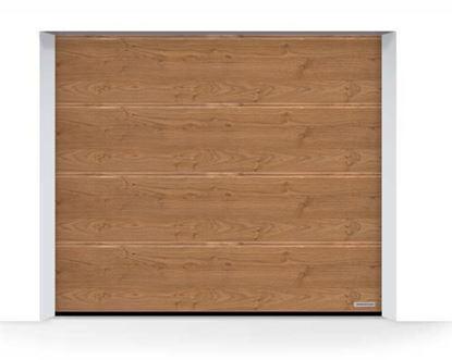 Изображение Ворота секционные LPU 42, 2440х2080, Decograin, M-гофр, Winchester oak