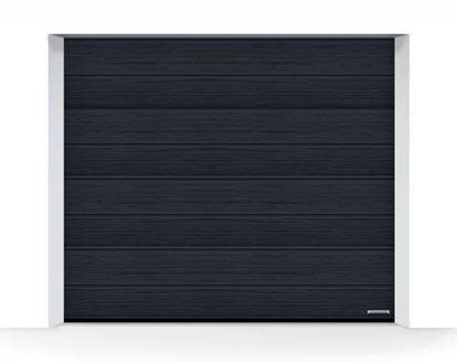Изображение Ворота секционные LPU 42  2750x2250 мм Slategrain М-гофр цвет 7016 (серый антрацит)