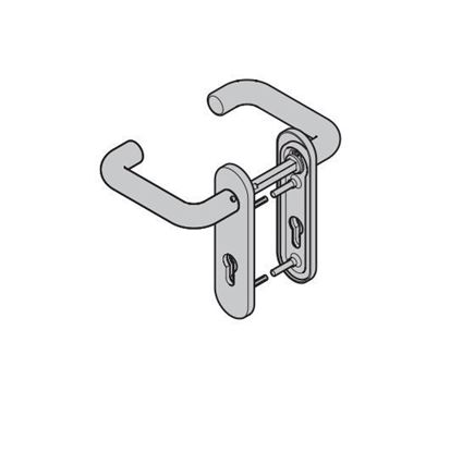 Изображение Комплект ручек для дверей ZK, нержавеющая сталь,  Арт.690744