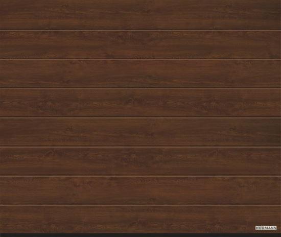 Vorota LPU 42, 2500x2125, DecoColor, M-gofr, Dark oak(temnyj dub)